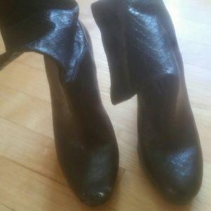Cole haan Kennedy snakeskin platform boots